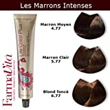 Coloration cheveux FarmaVita - Tons Marrons Intenses Blond Foncé Marron Intense 6.77