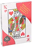 Invero® XL Size Giant Fun Large Plastic Coated Playing Cards Deck - Ideal for Children, Adults at Parks, Gardens, Parties and more (28 x 20cm)