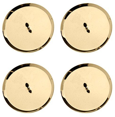 Kerzenhalter 67021302 - 8 cm, 4 Stück, gold
