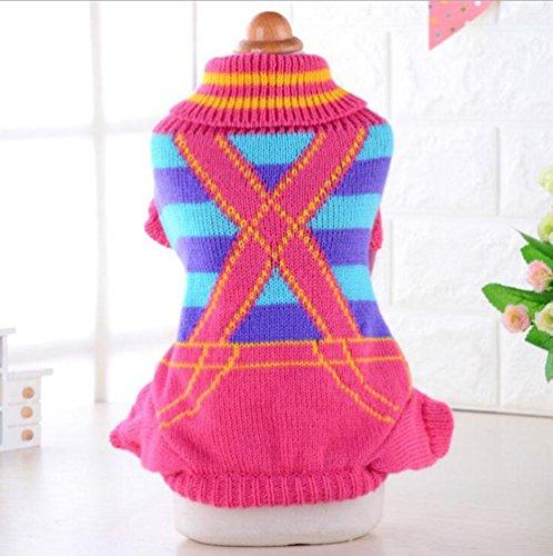 PLHF Haustier Pullover Strick Turtleneck Strickwaren Outwear für Hunde und Katzen Herbst und Winter Kleidung, s