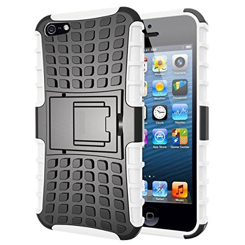 iPhone 6custodia, iPhone 6s cover, [] Survivor military-duty case–antiurto resistente agli urti Hybrid Heavy Duty Armor [case] Dual Layer armatura in plastica rigida e copertura di protezione del n WHITE