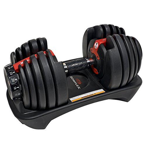 Bowflex SelectTech 552i Mancuernas Ajustables para hogar, Adultos Unisex, Rojo, Negro, Gris, Talla Única