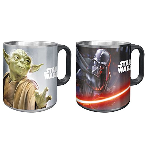 Taza acero inoxidable Star Wars Darth Vader Yoda surtido