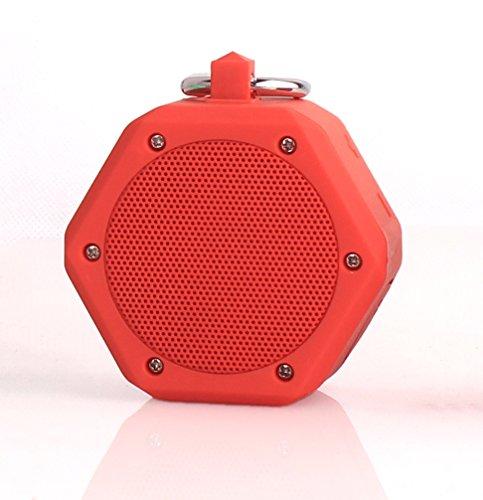 YunMei beweglicher mini drahtloser Bluetooth Stereolautsprecher, vielzweckiger wasserdichter im Freien- / Dusche-Lautsprecher, mit 3W StereoBluetooth Lautsprecher BB-120 (orange)