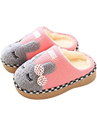 b4b6bf4aac80f KuaiLu Cute Bunny Slide Slippers Booties Shoes Fluffy Foam Anti Slip for  Boys Girls Little