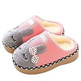 KuaiLu Pantofole da Ricamo per Bambini Ragazzi Ragazze Comode Pantofole in Cotone Trapuntato con Suola Antiscivolo in Gomma