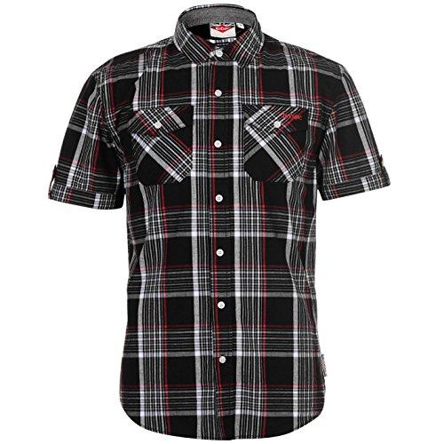 >Hemd für Herren >Langer Knopfverschluss >Umklappbarer Kragen >Langer Knopfverschluss >2-Knopfverschluss Brusttaschen