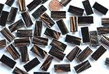 150 St Glasmosaiksteine rechteckig mit Flimmer schwarz 1x2cm ca. 204g
