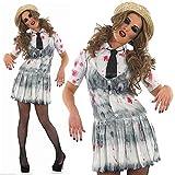 Zombie-Schule-Mädchen - Halloween - Adult Kostüm - Klein - 36-38