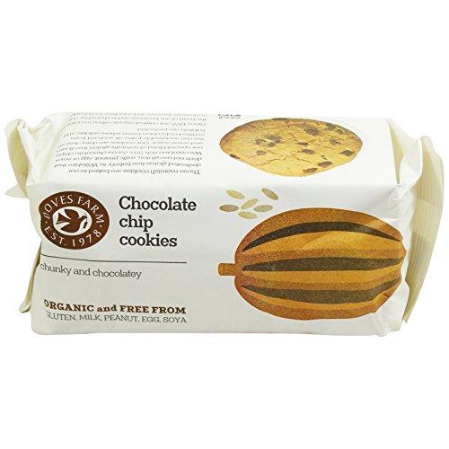 DOVES FARM - Biscotti Cookies con Gocce di Cioccolato - Fairtrade, Biologico - Senza Glutine, Senza Lattosio, Senza Frutta da Guscio 180 gr