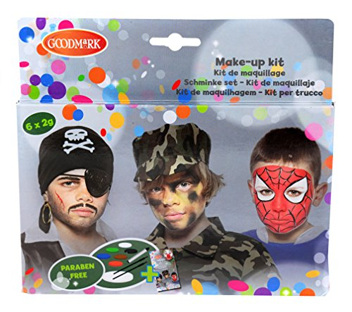 Up Halloween Jungs Für Make (Goodmark Aqua Face Paint Box Jungs, 1er Pack (1 x 11)
