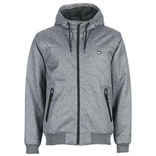 Quiksilver Herren Brooks 5K - wasserdichte Jacke für Männer Kapuzenjacke, medium Grey Heather, XL