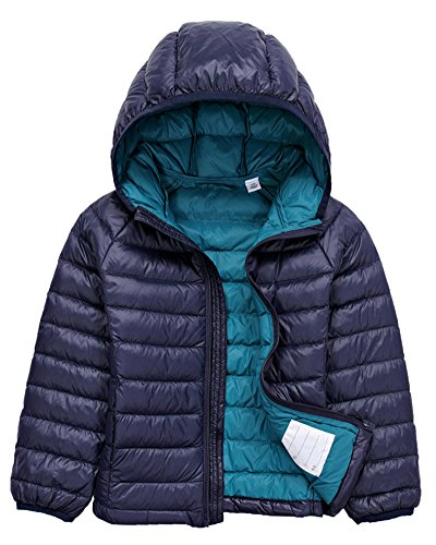 Bambino Giacche Packable di Piuma Leggero Giacca Piumino Giubbotti Inverno Cappotti con Cappuccio Per Ragazzo Ragazza