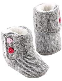 Tefamore Zapatos de niño Prewalker Invierno Soft Sole Crib Botones de botón caliente Boots de algodón para bebés