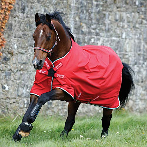 Horseware Hero 6 Turnout Lite 0g DISC - Red/White, Größe:130