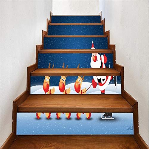 Wangxuan6 Alter Mann Diy Kreative Wasserfall Wandtattoo Treppe 3D Vinyl Wasserdichte Treppe Aufkleber Dekoration Poster