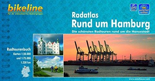 Hamburg Radatlas schönsten Radt. rund um Hansestadt GPS wp por Bikeline
