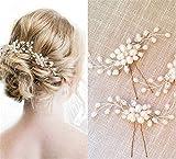 Haarschmuck Brautschmuck Haarnadeln - 3pcs Art und Weise Retro Elegante Damen Perlenrhinestone Haarclip Hochzeit Brautschmuck Braut Haar Zubehör