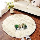 pad CAICOLORFUL MUMA Teppich Wohnzimmer Kaffee Tischset Nachttisch Runde Innen Teppich (Farbe : Beige, größe : D-2m)