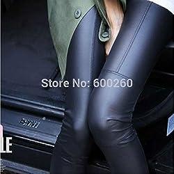 Polainas de cuero de UltiFit (TM) Faux para Lady leggins pantalones de las mujeres de la nueva manera atractiva