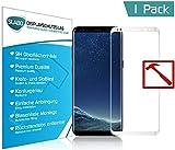 Slabo Premium Film Protection d'écran en Verre trempé pour Samsung Galaxy S8 Full Cover Protection écran Film de Protection Tempered Glass Clair - Dureté 9H - Cadre Blanc
