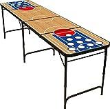 Red Cup Pong Klappsessel 8Beer Pong Tisch mit Flaschenöffner, Ball Rack und 6Pong Bälle–Basketball Design