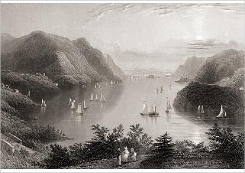 fine-art-print-of-view-from-west-point-hudson-river-usa-from-a-19th-century-print-engraved-by-r
