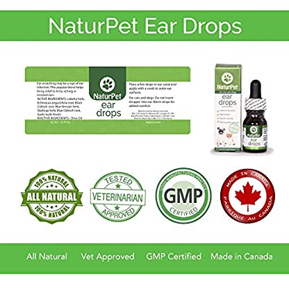 NaturPet Ear Drops | Natural Ear Infection Medicine For Dogs | Dog Ear Cleaner | Cat Ear Cleaner | Helps with Wax, Yeast, Itching & Unpleasant Odors 6