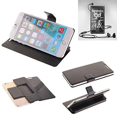K-S-Trade Schutz Hülle für Marshall London Schutzhülle Flip Cover Handy Wallet Case Slim Handyhülle bookstyle schwarz