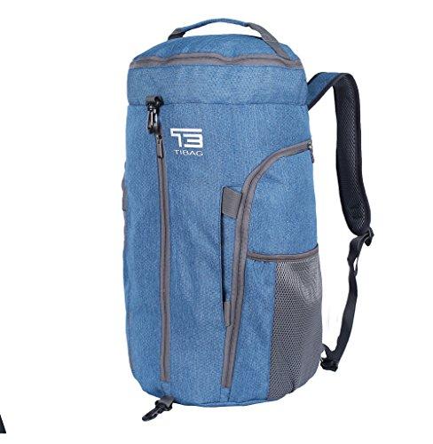 TB 35L/40L faltbare leichte Sporttasche, Tagestasche, wasserfeste Reisetasche, Rucksack, Sporttasche, Herren, hellblau, 40 l -