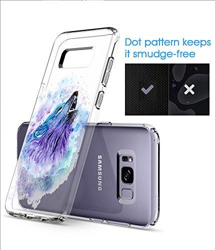 Coque Samsung Galaxy S8 Pacyer® TPU Cover Silicone Anti-Scratch Bumper Housse Absorption de Choc Clair Design Motif Transparent Pour Samsung Galaxy S8 6