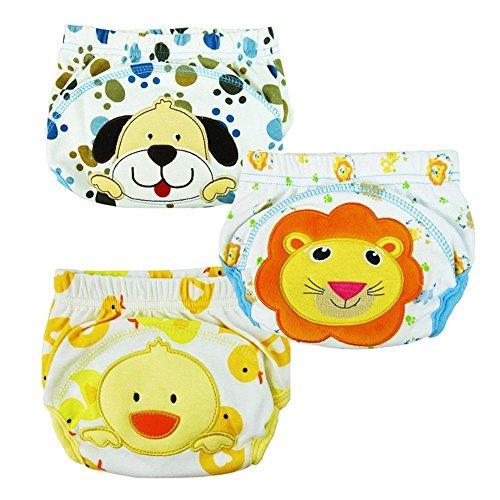 3Pcs Baby Trainerhosen – LOSORN ZPY Töpfchen Hosen für Jungen Mädchen Unterwäsche Unterhosen