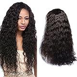 VIPbeauty 360 lace frontale perruque Water wave Ondulé Naturel humain brésiliens vierges avec cheveux de bébé 180% Densité pour femme