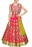 Krisha Creations Womens All Festival To Design Womens For PartyWedding or Festival Heavy Embroidery Work Salwar Suit(pink Color _Free Size)