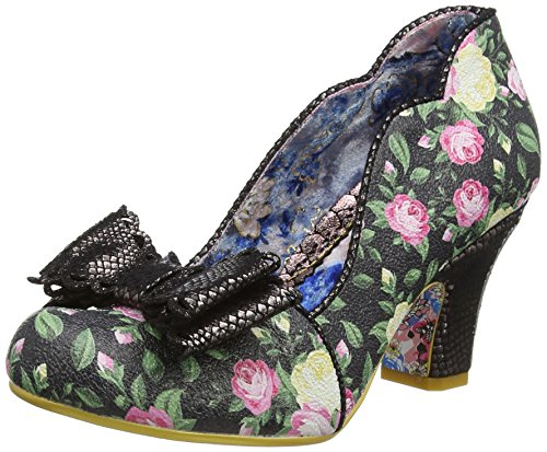 Irregular Choice - Zapatos de Tacón con Punta Cerrada de Sintético Mujer, Color Negro, Talla 37