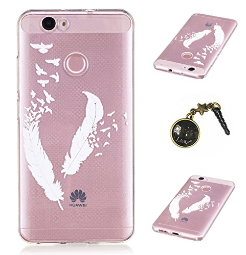 Preisvergleich Produktbild Ultradünne transparente Hülle für Huawei Nova Hülle Schutzhülle Handy TPU Silikon Hülle Case Cover Durchsichtig Gel Tasche Bumper ( + Stöpsel Staubschutz) (5)