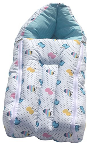 Amardeep and Co Baby Sleeping Bag Cum Baby Carry Bag (Blue) - sb01-blue-apple