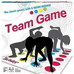BASON Twister Juego,Juego de Piso Familiar Tapete de Juego, Juegos de Mesa, Divertidos Juegos de Habilidad para niños y Adultos