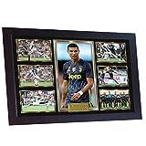 SGH SERVICES Neuf encadrée Cristiano Ronaldo Juventus Photo dédicacée Poster Pre-Print Impression Photo de Football Mémorables encadrée Cadre en Panneau MDF Impression Photo