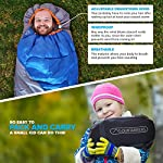 Mountaineers Outdoor Sleeping Bag, 4 Season, XL Pillow Pocket & Water Resistant Outer Shell - Including Foot Zipper… 11