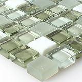 Kristallglas Marmor Mosaik Fliesen Grün Mix