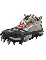 Ideapro 18dents griffes Neige Glace Sol antidérapant Crampons patinage Snow Pointes de chaussures Grips Crampons Pointes de glace