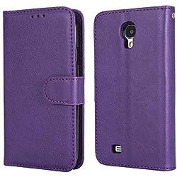 Alternate Cases Étui de protection à rabat en cuir pour Samsung Galaxy S4 lilas