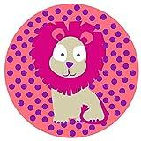 Lässig 1210003717 Silikon Platzdeckchen, Wildlife Löwe, rosa