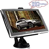 Discoball 7 Inch Touch Screen Car GPS Navigation SAT NAV UK EU Maps FM MP3 MP4 TF Card Supported Function 8GB (Updated 256MB) (Without Bluetooth 256 RAM)