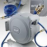 BITUXX® Druckluft Schlauchtrommel 25m automatik Druckluft Schlauchaufroller 25 Meter 1/4