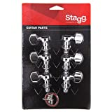 Stagg KG371CR Mécaniques pour Guitare électrique 3 + 3 individuelles Chrome