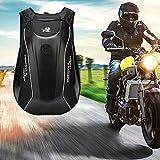 Never-hu 30L Grande Capacité Moto Sac À Dos en Fiber De Carbone Vélo Imperméable Shell Sac pour...