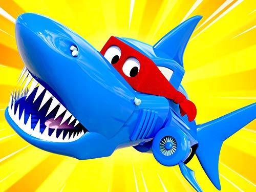 Neue Episode ! Hai Spezial Woche - Supertruck verwandelt sich in einen Hai-Lastwagen um einen Film zu drehen/Rennauto / Minilastwagen/Das U-Boot