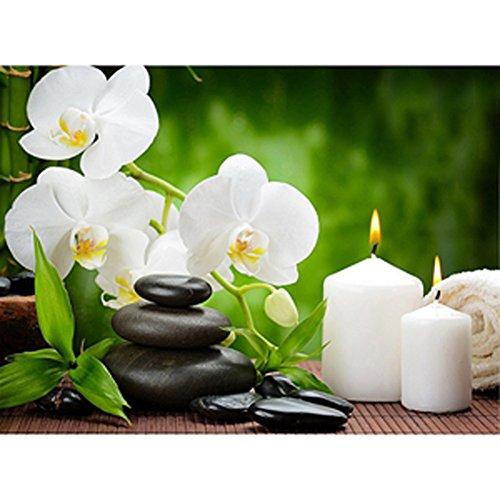Display08 Orchidée Fleurs DIY Diamant Peinture à broder au point de croix Craft Home Decor